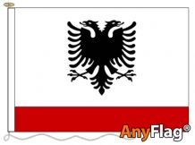 - ALBANIA NAVY ENSIGN ANYFLAG RANGE - VARIOUS SIZES